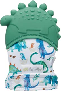 Itzy Ritzy Silicone Teething Mitt – Soothing Infant Teething Mitten with Adjustable Strap, Crinkle Sound and Textured Sili...