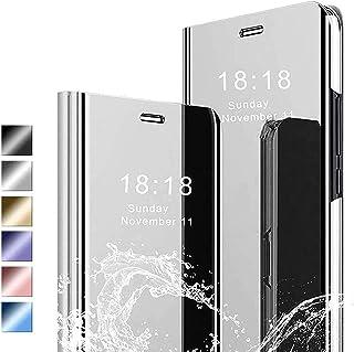 Lustrzane etui do Galaxy A51 5G UW etui na telefon komórkowy Ultra Slim Fiting Mirror Case z podpórką etui ochronne odporn...