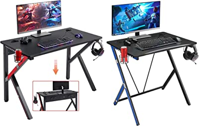 """Mr IRONSTONE 31.5"""" Gaming Desk PC Computer Desk Home Office Student Table & Gaming Desk 45.2"""" W x 23.6"""" D Home Office Computer Desk"""