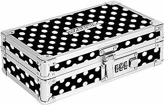 black and white polka dot pencil case