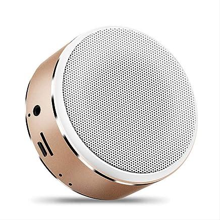 SHA Altoparlante Bluetooth Musica Stereo Mini Altoparlante Bluetooth Altoparlante Hi-Fi Wireless Subwoofer Altoparlante Supporto Audio Tf Aux USB 85Mm * 37Mm Gold - Trova i prezzi più bassi