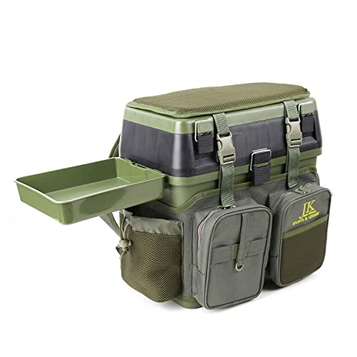 JK Sports & Leisure Fishing Seat, Backpack & Tackle Box - For all Styles of Fishing Including Carp