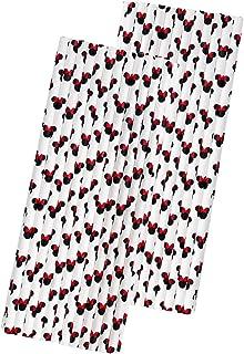 ماصات ورقية بتصميم ميني ماوس - أذني الفأر - أحمر أسود أبيض - 7.75 بوصة - 50 قطعة - العلامة التجارية الخارجية للورق