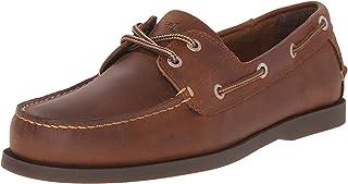 حذاء قاربي فارجاس للرجال بهيكل جلدي وتصميم بحياكة يدوية من دوكرز