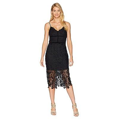 Adelyn Rae Hollyn Woven Lace Sheath Dress (Black) Women