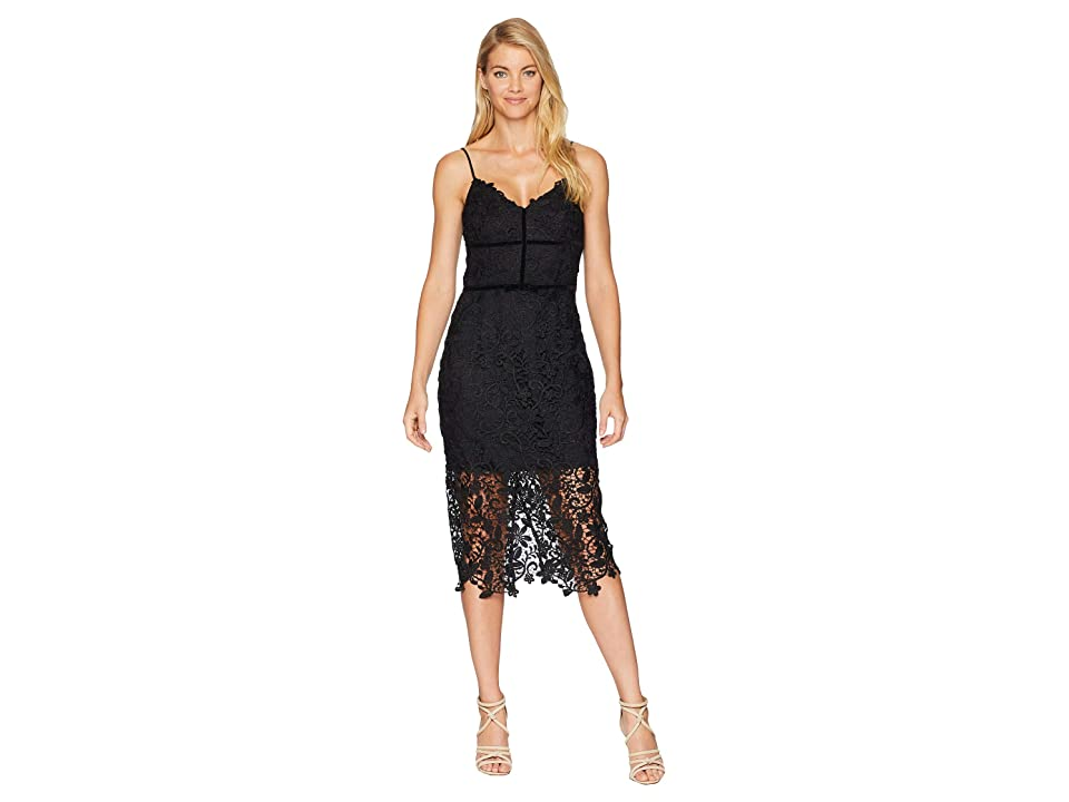 Adelyn Rae Hollyn Woven Lace Sheath Dress (Black) Women