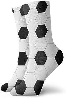 tyui7, Calcetines de compresión antideslizantes de superficie de fútbol Calcetines deportivos acogedores de 30 cm para hombres, mujeres y niños