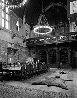 Vintography 18 x 24 B&W Photo of Banquet Hall of The Biltmore Estate, George W. Vanderbilt's Mansion That Became The nation's Largest Home, Asheville, North Carolina - Highsmith 37a