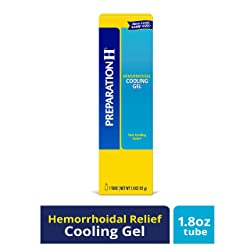Preparation H Hemorrhoid Symptom Treatment Cooling Gel (1.8 Ounce tube), Fast Discomfort Relief with