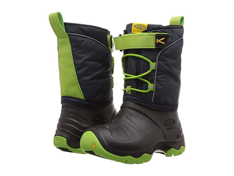 Keen Kids Lumi Boot WP (Toddler/Little Kid) (Blue Nights/Greenery) Boys Shoes