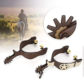 1 Pair Zinc Alloy Horse Riding Spurs Equestrian Training Roping Spur for Men