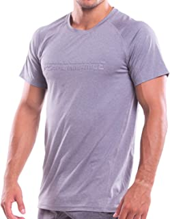 TADDLEE Men's T Shirts Muscle Fitness Sports Top Tee Shirts Short Sleeve Stretch