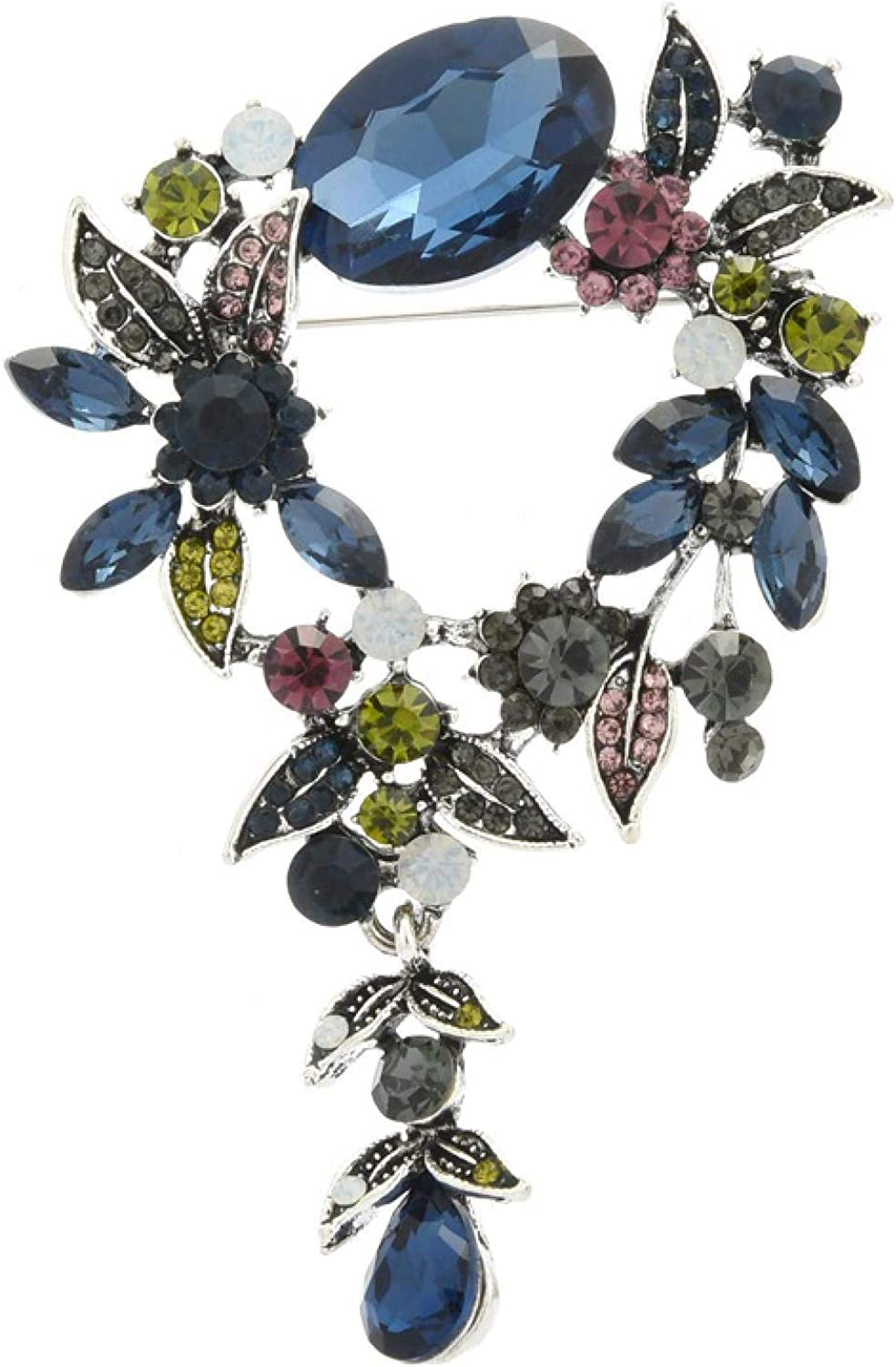 QDGERWGY Cystal Flower Wreach Exquisite Weddings Women Brooches Spring new low-pricing work