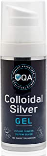 Colloidal Silver Gel - 25 ppm Pure Colloidal Silver Topical Gel - GMP Facility - Colloidal Silver Ointment for Skin - 2 oz...