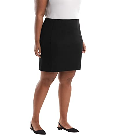 M.M. LaFleur Plus Size Crosby Skirt Textured Ponte (Black) Women