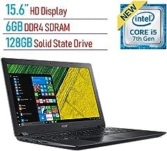 Acer Aspire A315 15.6-inch HD Display Laptop PC, 7th Gen Intel i5-7200U 2.5GHz, 6GB DDR4 SDRAM, 128GB Solid State Drive, Intel HD Graphics 620, 802.11ac WiFi, HDMI, Webcam, Windows 10