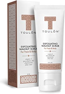 Exfoliating Face Scrub - Exfoliate Scrub - Face and Body; Walnut Facial Exfoliator. Great Exfoliant for Women or Men. Free Gift/No Risk