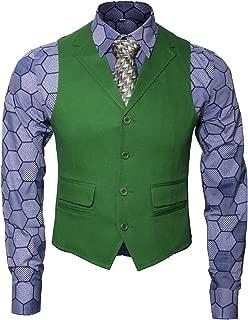 Adult Mens Knight Clown Costume Shirt Vest Tie Outfit Coat Pants Suit Set Fancy Dress Up Halloween Cosplay Props