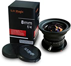 SLR Magic 8mm f/4.0 Ultra Wide Angle Lens for Micro Four Thirds M4/3 Cameras Panasonic Olympus GH1GH2GH4GH5G,M1GM5GM10 ,EPM1 E-PL7 with UV filter - Black Color