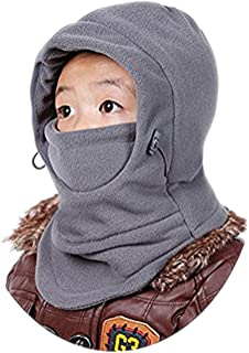 DD.UP MZ Children's Winter Warm Hat Windproof Ski Cap Thick Thermal Adjustable Balaclava Hood