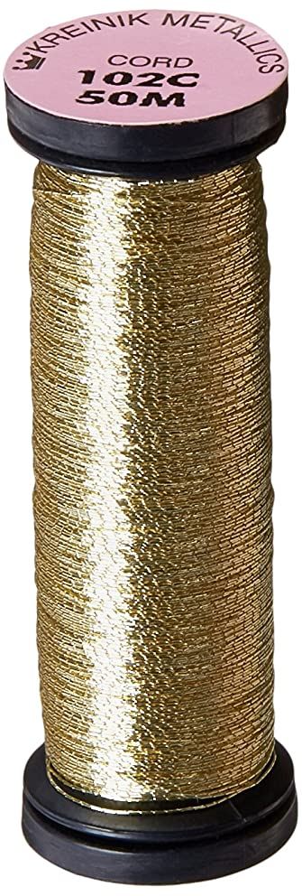 Kreinik Metallic Cord 1 Ply, 50m, Vatican Gold