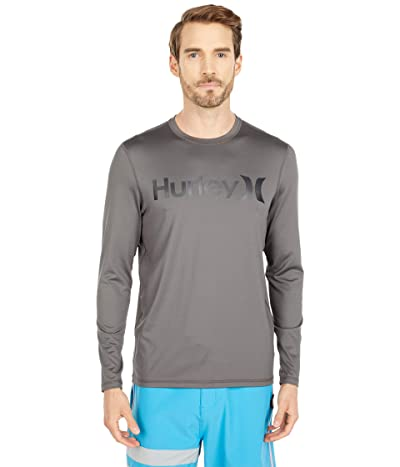 Hurley One Only Long Sleeve Surf Shirt (Iron Grey) Men