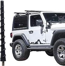 7 Inch Spiral Short Antenna Compatible with Jeep Wrangler JL JK JKU JLU Rubicon Sahara Gladiator 2007-2021   Flexible Rubb...