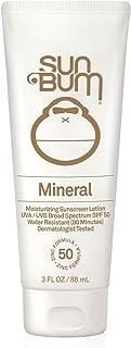Sun Bum Mineral Sunscreen Lotion SPF 50|Reef Friendly Broad Spectrum UVA/UVB Protection|Hypoallergenic, Paraben Free, Gluten Free, Vegan|3 FL. OZ.