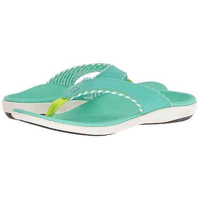 Spenco Yumi Candy Stripe Sandal (Spearmint) Women