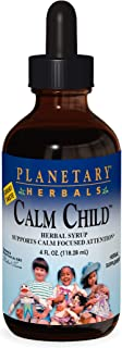 Planetary Herbals Calm Child Herbal Syrup - Includes Soothing Botanicals Chamomile, Lemon Balm, Catnip & More - 4oz
