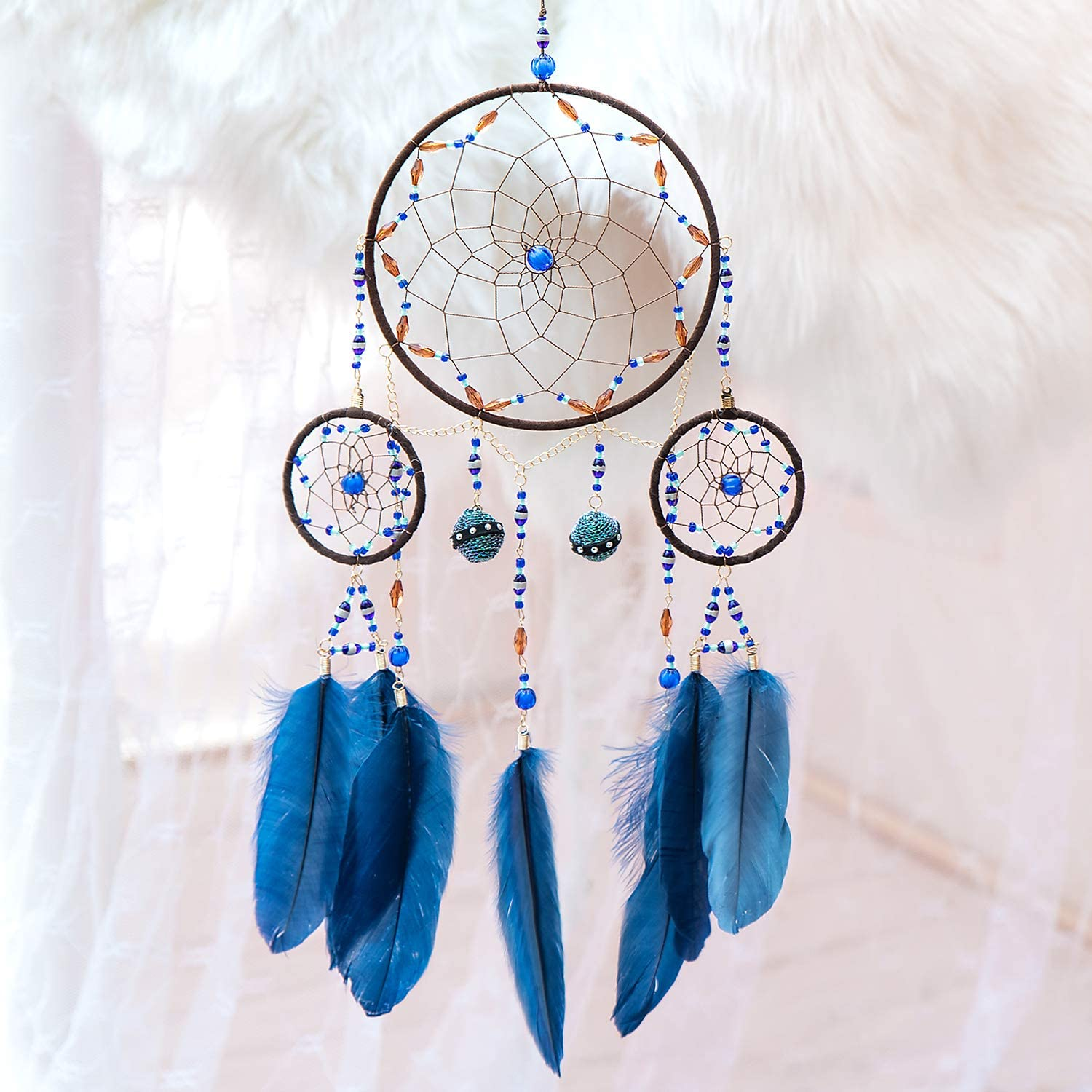 TEESHLY Dream High quality Catcher Handmade Decoration Circles Style Ethnic Cheap mail order sales 3
