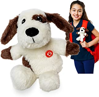"""GoPals Dog Stuffed Animal Plush Toy - """"Dash""""- Clip On Backpack - Gifts for Girls and Boys Kids, 7 inches"""