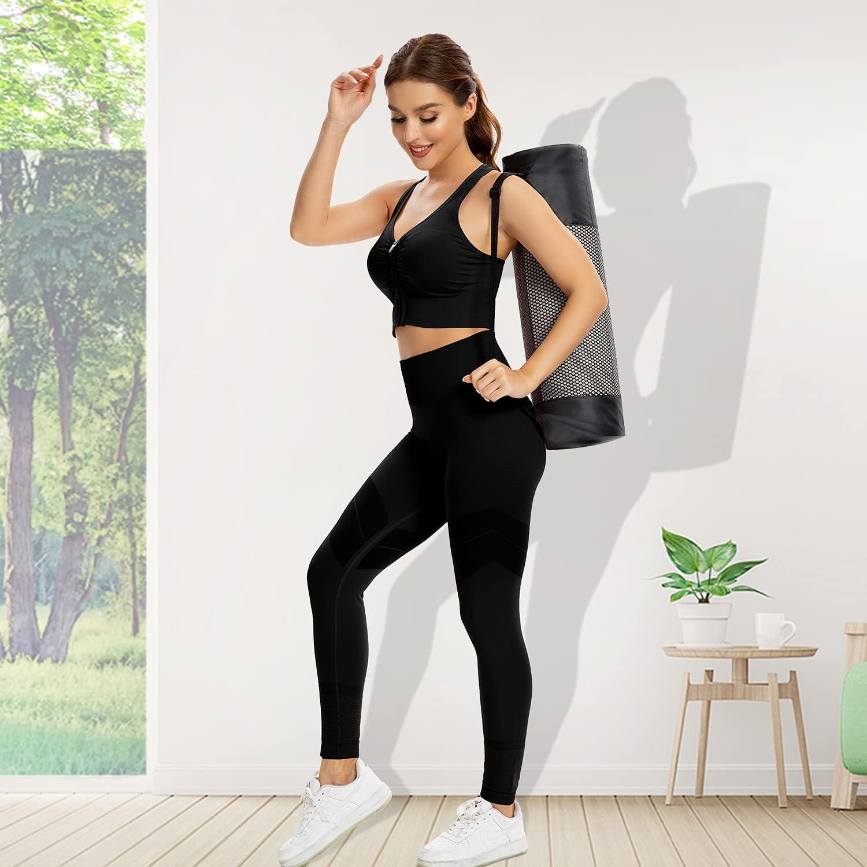 ZeroBound Women's Zip Front Sports Bra Padded Low Impact Wirefree Yoga Bras X Back Comfortabe Bra Workout Tank Tops