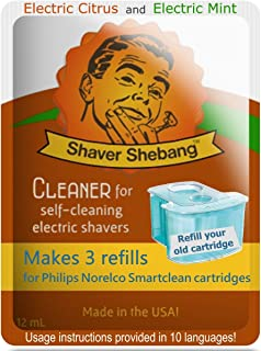 2 SS Citrus&Mint refills of 6 Philips Norelco SmartClean cartridges
