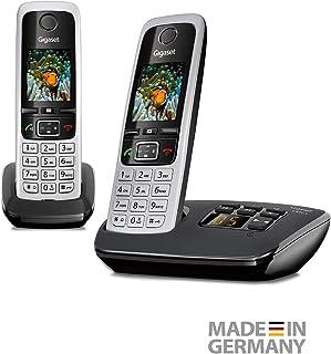 Gigaset C430A Duo - Teléfono inalámbrico (DECT, 50 m, 300 m, 200 entradas) Negro