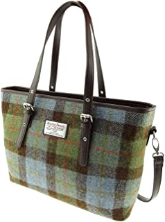 Harris Tweed /& Leather /'Diane/' Large Purse in GreyBlack Check LB2500-COL44