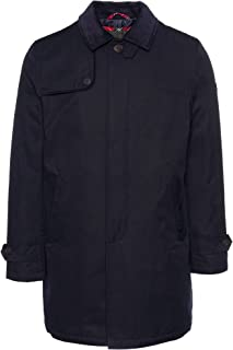 merc Mens London 3/4 Length Mac Jacket/Coat Lidgard - Navy Blue