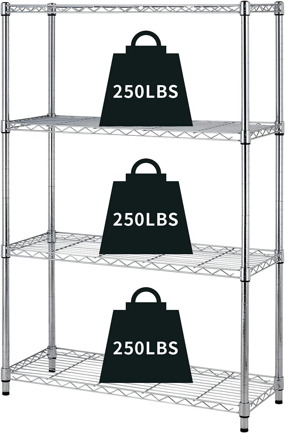 Rapid rise HCY Super special price 4-Tier Storage Shelf Heavy He Shelving Unit Duty NSF
