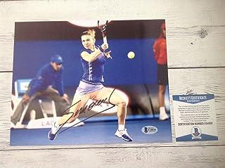 Autographed Simona Halep Photograph - 8x10 Beckett BAS COA e - Beckett Authentication - Autographed Tennis Photos