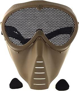 SportPro CM Mesh Eye Protection Full Face Mask for Airsoft - Tan