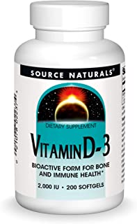 Source Naturals Vitamin D-3 5000 iu Supports Bone & Immune Health - 120 Capsules