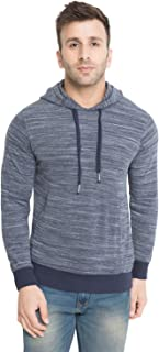 CHKOKKO Winter Wear Full Sleeves Hooded Sweatshirt for Men