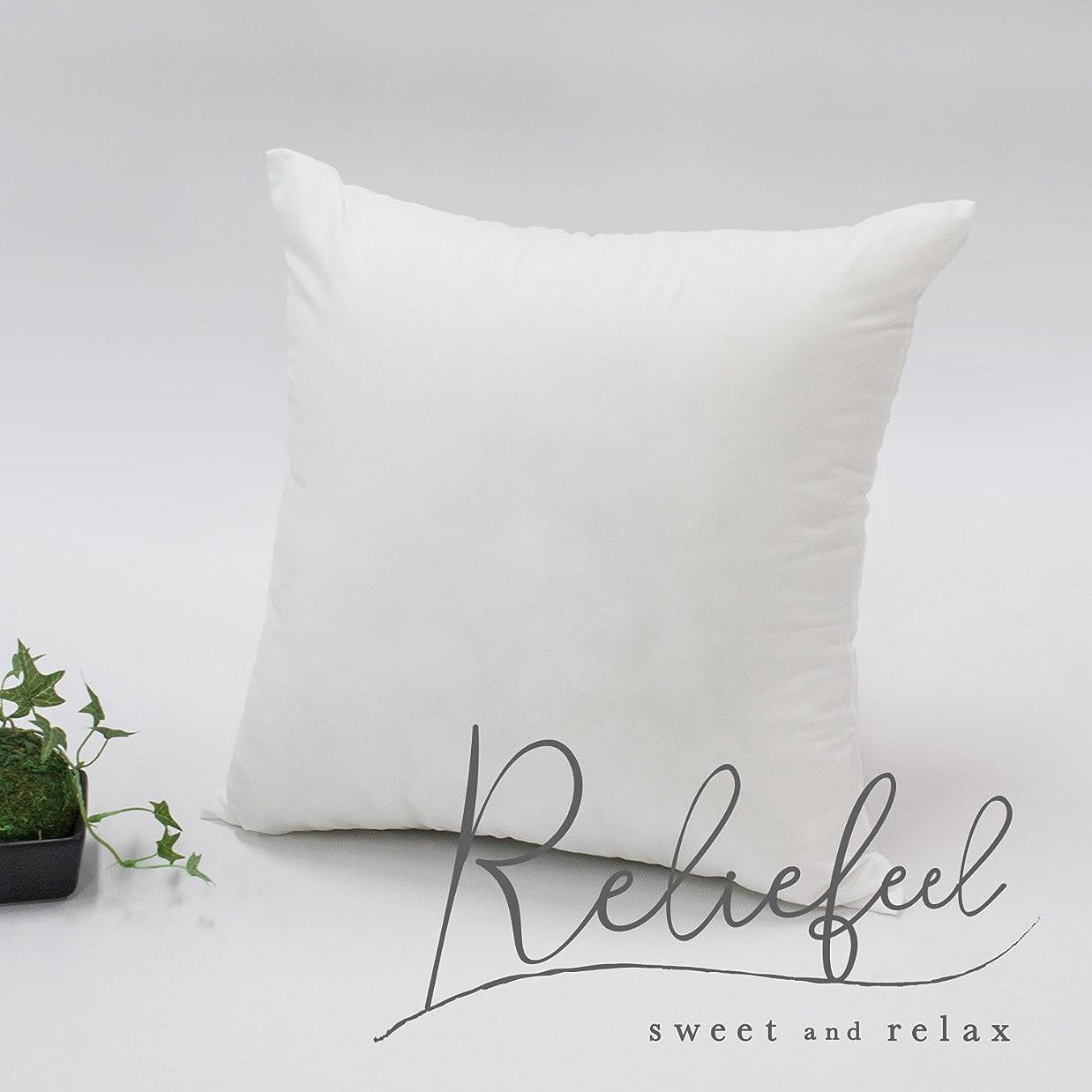 スチュアート島オフセット香ばしいReliefeel ヌードクッション 中身 日本製 シリコン綿 洗濯可能 60×60cm 2個セット