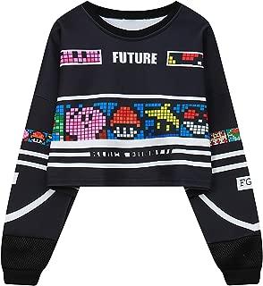 Cute Demi Women's Sweatshirt Harajuku Letters Sexy Crop Top Punk Hip-Hop Hoody Large Size Pullover