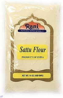 Rani Sattu Flour (Roasted Chana Gram) 14oz (400g) ~ Natural, Salt-Free | Vegan | No Colors | Gluten Free Ingredients | NON-GMO | Indian Origin