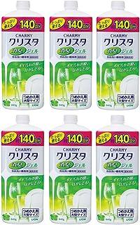 【まとめ買い】チャーミークリスタ 消臭ジェル 食洗機用洗剤 詰替大型 840g×6個