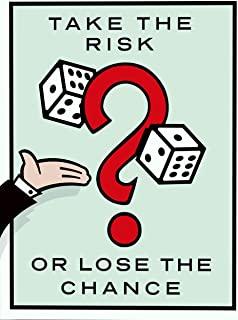 NG Monopoly Motivational Poster Print Take The Risk Wall Art Decor Office