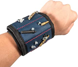Magnetic Wristband Best DIY Dad Gifts- Gifts Tool for Men Magnetic Tool Wristband with Powerful Magnets, Father Carpenter ...