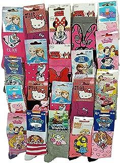 Disney Socks And Underwear - Chaussettes Licence fantaisie en Coton Vendu en Pack Surprise -Assortiment modèles photos sel...