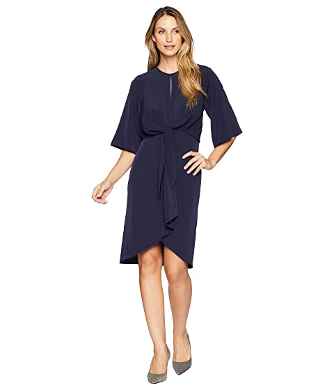 233f9de5c57 Maggy London Feather Crepe Tie Front Blouson Dress at Zappos.com
